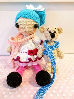 Susana y su oso por Rosebudtienda en Etsy