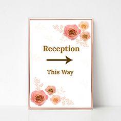 invitación de recepción de boda/Invitaciones de recepción/Invitación de fiesta de recepción/invitación floral/Tarjeta recepción imprimible