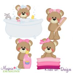 Bathing Beauty SVG Cutting Files + Clipart