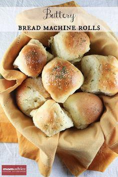 Make Ahead Buttery Bread Machine Rolls