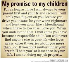 My promise to my children…
