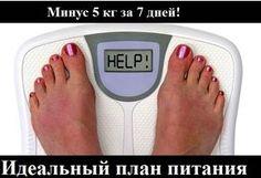 Как похудеть эффективно.: Минус 5 кг за 7 дней!