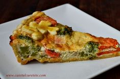 Tarta cu legume - CAIETUL CU RETETE Quiche, Breakfast, Food, Pies, Morning Coffee, Essen, Quiches, Meals, Yemek