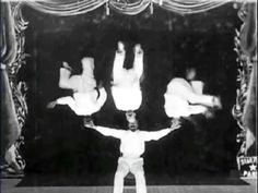 The Impossible Balancing Feat (1902) - Georges Melies | Méliès utilizes his newest trick, first seen in The Human Fly, combined with the spirit of The One-Man Band, resulting in a one-man gymnastics team.