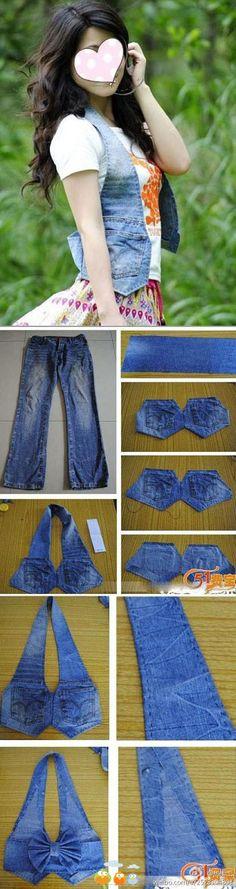Cute Jeans DIY - #diy