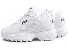 Fila Disruptor II Triple blanc Chaussures Baskets homme