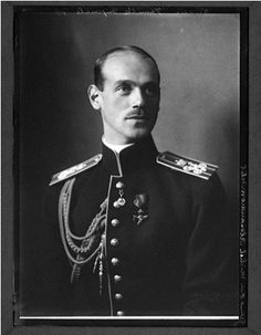Portrait of Grand Duke Mikhaïl Alexandrovich, for about  day-and-a-half the last Tsar of Imperial Russia. He would abdicate in his turn, and eventually be shot by the Bolsheviks in 1918.