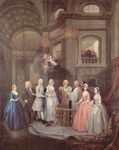The Wedding of Stephen Beckingham and Mary Cox, 1729 - William Hogarth