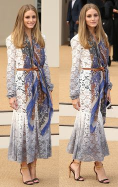 One More Brilliant Way to Wear a Scarf with a Dress Like Olivia Palermo