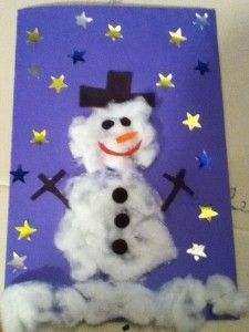 How to Make a Snowman Christmas Card for Kids