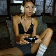 sexy girl gaming