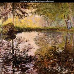 Pond at Montgeron - Claude Oscar Monet - www.claudemonetgallery.org