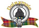 """Dalrymple Clan Crest and Tartan """"A rock Proper"""". Dalrymple Clan Motto is """"FIRM"""". MacRory Mor"""