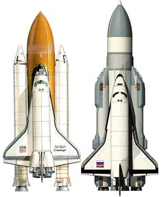 Buran Soviet Space Shuttle launched by the Energia Launcher is part of Nasa space shuttle Buran Russian Space Shuttle was authorized in 1976 in response to the United States Space Shuttle program - Nasa Space Program, American Space, Air Space, Deep Space, Space Race, Space And Astronomy, Hubble Space, Norman Rockwell, Space Shuttle