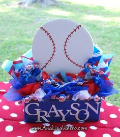 baseball table decorations - Google Search
