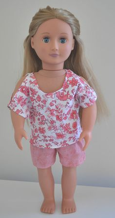 Our Generation American Girl Journey Doll 18 Dolls Clothes Pink Shorts T-shirt