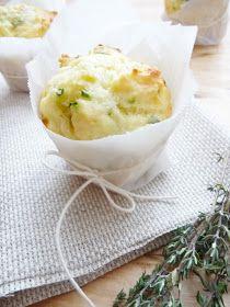 la pancia del lupo: Muffin con provola affumicata ed erbette fresche