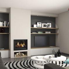 Living Room Decor Fireplace, Home Fireplace, Fireplace Remodel, Modern Fireplace, Fireplace Design, New Living Room, Living Room Modern, Home And Living, Living Room Designs