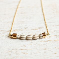 Gold Dipped Necklace on Etsy, $23.99