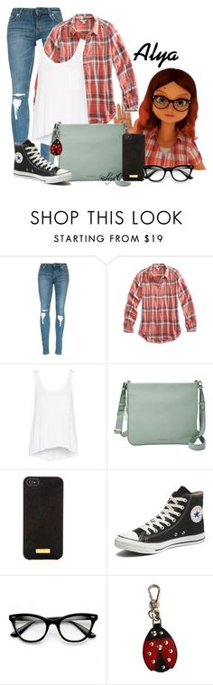 """Alya - Miraculous Ladybug"" by rubytyra ❤ liked on Polyvore featuring Lucky Brand, rag & bone, FOSSIL, Henri Bendel, Converse, Prada, women's clothing, women, female and woman"