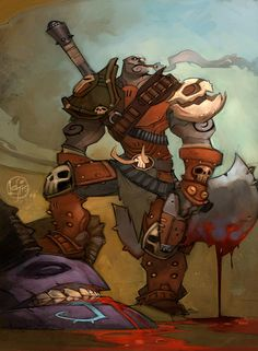 Granok Warrior Artwork - Characters & Art - WildStar