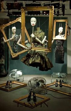 Lanvin, picture yourself with a book theme.  Could be interactive.