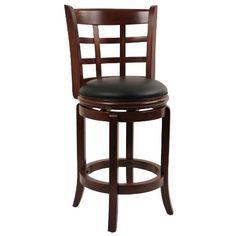 """Boraam Kyoto 24"""" LT.Cherry Counter Height Swivel Stool - http://rustic-touch.com/boraam-kyoto-24-lt-cherry-counter-height-swivel-stool/"""