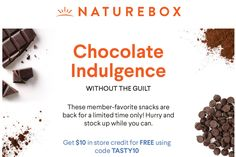 Save $10 off your first order from NatureBox!