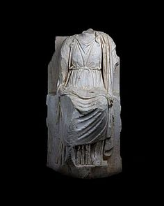 A marble figure of a goddess, probably Kybele Rome, Ist - centuries A. Roman Artifacts, Ancient Artifacts, Museum Studies, Ancient Rome, Antiquities, Drapery, Archaeology, Temple, Ethnic