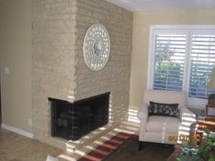 #Before And After   See A Great Makeover   Takes An Older Fireplace Into A