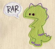 Rar Monster Speaks! The fleece or felt is cut with gentle rounding, the pointy bits are supplied by the embroidery.