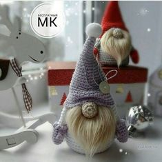VK is the largest European social network with more than 100 million active users. Our goal is to keep old friends, ex-classmates, neighbors and colleagues in touch. Handmade Decorations, Christmas Decorations, Crochet Toys, Knit Crochet, Christmas Toys, Christmas Ornaments, Cross Stitch Angels, Christmas Crochet Patterns, Amigurumi Doll