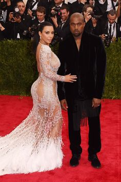 Kim Kardashian and Kanye West The pair (well, Kim mostly) stole the show in Roberto Cavalli.