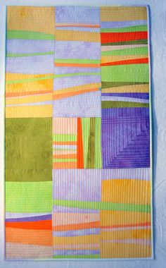 Sorbet art quilt--sweet color combination