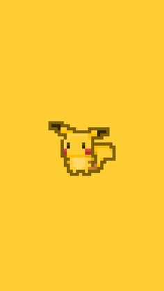 Pikachu Pokemon Pixel Art iPhone 6 Wallpaper
