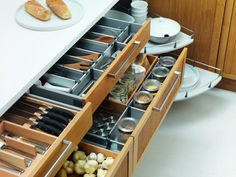 How to Organize Kitchen Cabinets & Dry Storage