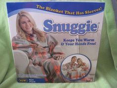 Snuggie Fleece Blanket with Sleeves - RED PLAID New Freedom of Movement 71 x 54 #Snuggie