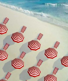 Red  White Inspiration at the beach