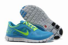 new concept 5d79a 4476c Sale Cheap Womens Nike Free Run 3 Photo Blue Volt Shoes Running Shoes Shop