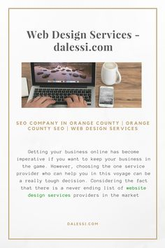 Why rush for web design services, when you can get the best of the lot without having to run everywhere in the market Visit http://dalessi.com/ today!