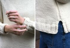 Recipe for an almost perfect  pullover (free top-down pattern) Detalle de jersey de punto.