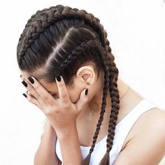 awesome 80 Spectacular Hairstyles with Braids -Plaited Fashion-Forward Hairdos Check more at http://newaylook.com/best-hairstyles-with-braids/