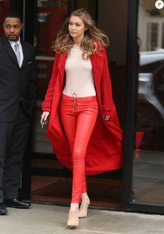 Gigi Hadid à New York, le 16 février 2016.