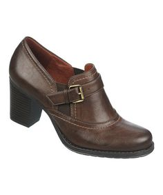Look what I found on #zulily! Brown Leather Deangela Pump by Naturalizer #zulilyfinds