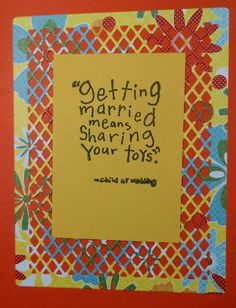Inside of wedding shower card