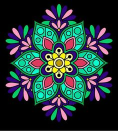 One of my colorings Adult Coloring, Coloring Books, Coloring Pages, Amazing Drawings, Dreamcatchers, Rug Hooking, Color Theory, Mandala Design, Sacred Geometry