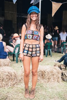 Spell & The Gypsy Collective Falls Festival wrap up Psychedelic Fashion, Mode Crochet, Hippie Culture, Burning Man Outfits, Shorts Outfits Women, Hippie Festival, Crochet Woman, Gypsy Style, Crochet Fashion