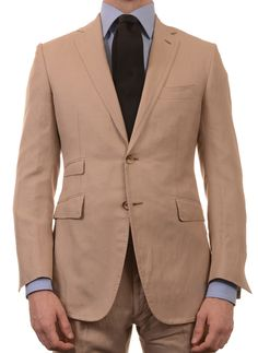 Sartoria PARTENOPEA Hand Made Beige Wool Suit EU 50 NEW US 40