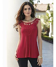 Pretty Red Top ---Nicoya Top from Monroe and Main
