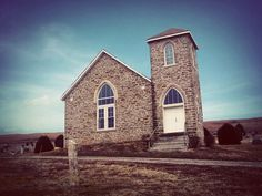 An old stone church in the Flint Hills #Kansas